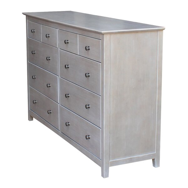 Jeanne 10 Drawer Double Dresser by Canora Grey