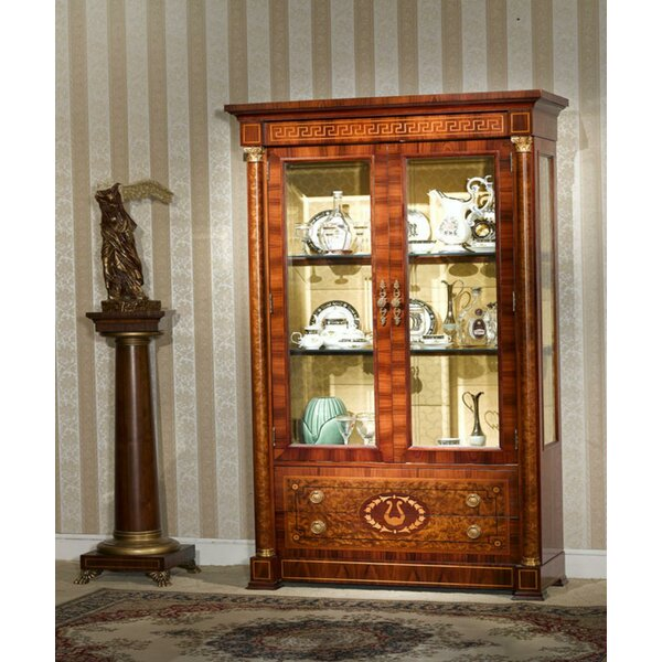 Ocilla Lighted Curio Cabinet by Astoria Grand