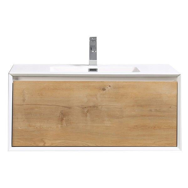 Grist 35 Wall-Mounted Single Bathroom Vanity Set by Orren Ellis