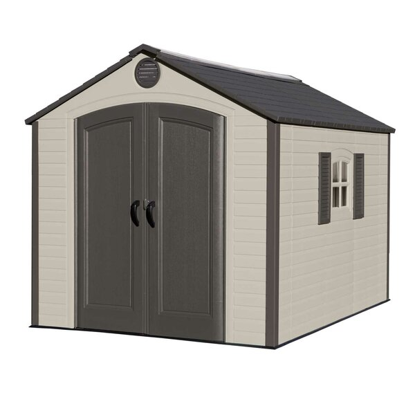 7 ft. 8 in. W x 9 ft. 8 in. D Plastic Storage Shed by Lifetime