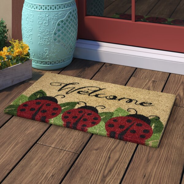 Jalbuena Ladybug Coir Doormat by Winston Porter