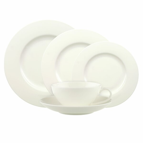 Anmut Bone China 5 Piece Place Setting, Service for 1 by Villeroy & Boch