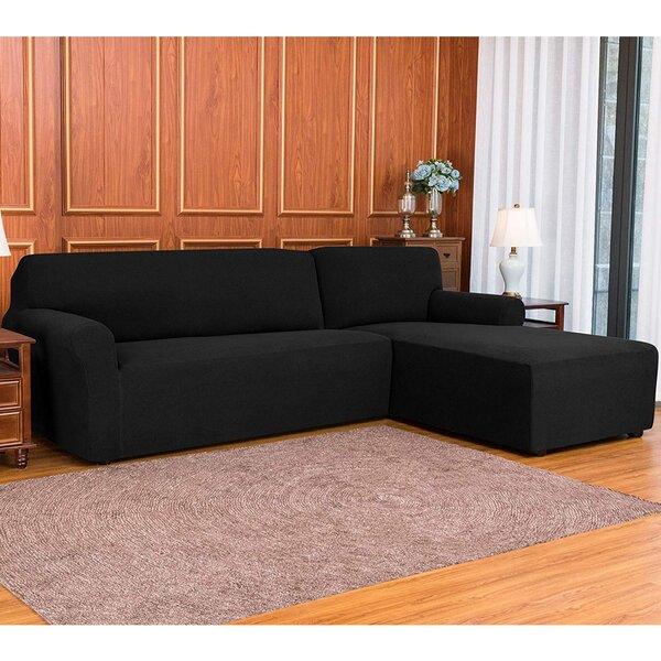 L-Shaped Right 2 Piece Box Cushion Sofa Slipcover Set By Ebern Designs