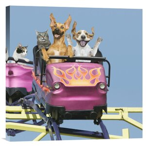 'Riding on Roller Coaster' by John Lund Graphic Art on Wrapped Canvas by Global Gallery