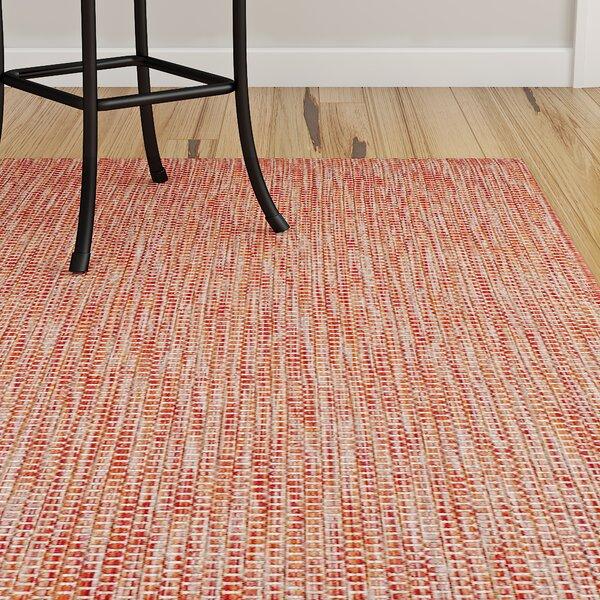 Mullen Hand-Woven Red/Beige Indoor/Outdoor Area Rug by Ebern Designs