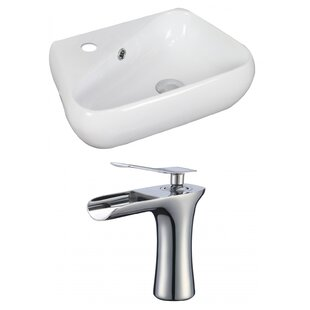 Inexpensive Specialty Ceramic 19 Wall Mount Bathroom Sink with Faucet and Overflow By American Imaginations