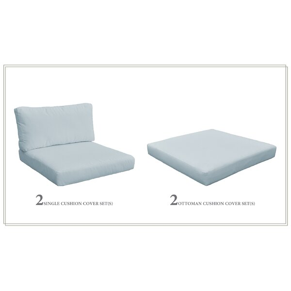 Monaco Outdoor 6 Piece Lounge Chair Cushion Set by TK Classics TK Classics