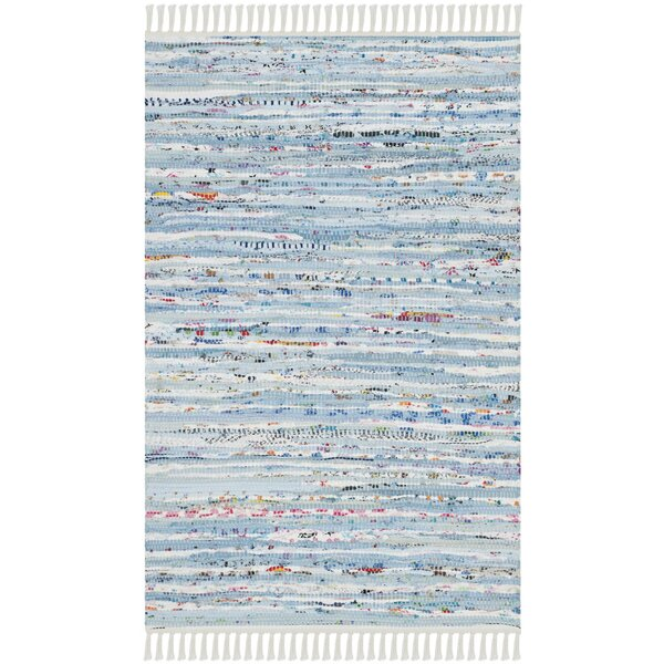 Lansing Hand Woven Cotton Light Blue Area Rug by Mistana