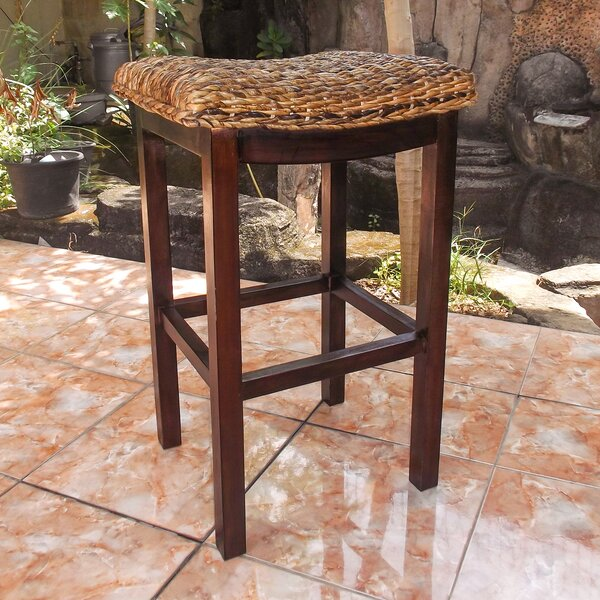 Vasillios Abaca Accent Stool by Bay Isle Home