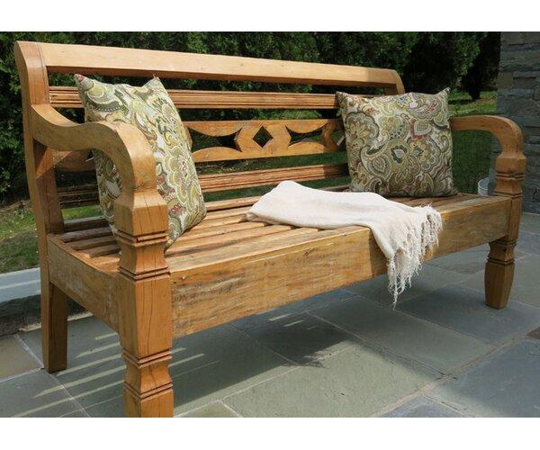Leblon Wood Garden Bench by Alexandra Sophia Reclaimed