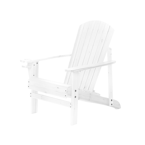 Natural Wood Folding Adirondack Chair by Trademark Innovations