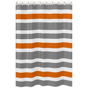 orange and brown shower curtain. Stripe Brushed Microfiber Shower Curtain Orange Curtains You ll Love  Wayfair