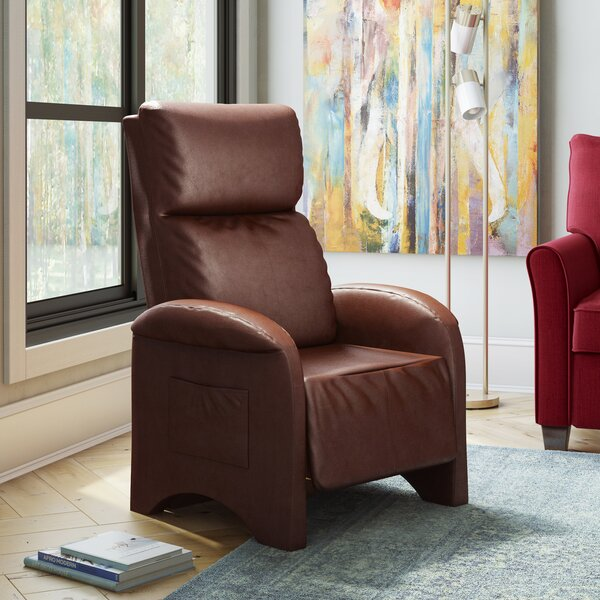 Baretta Leather Recliner by Ebern Designs