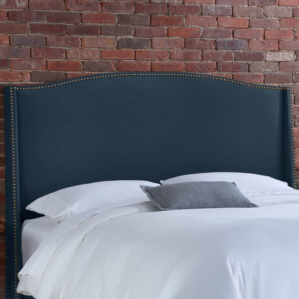 Doleman Solid Wood Upholstered Wingback Headboard by Willa Arlo Interiors
