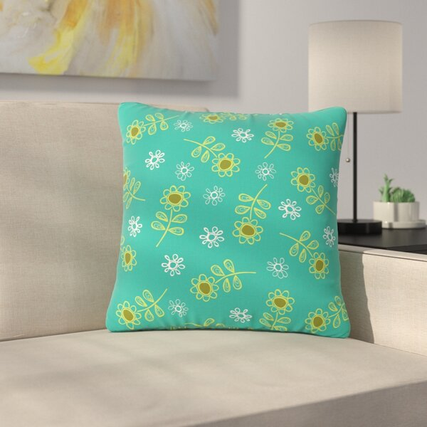 Holly Helgeson Ditsy Daisy Outdoor Throw Pillow by East Urban Home