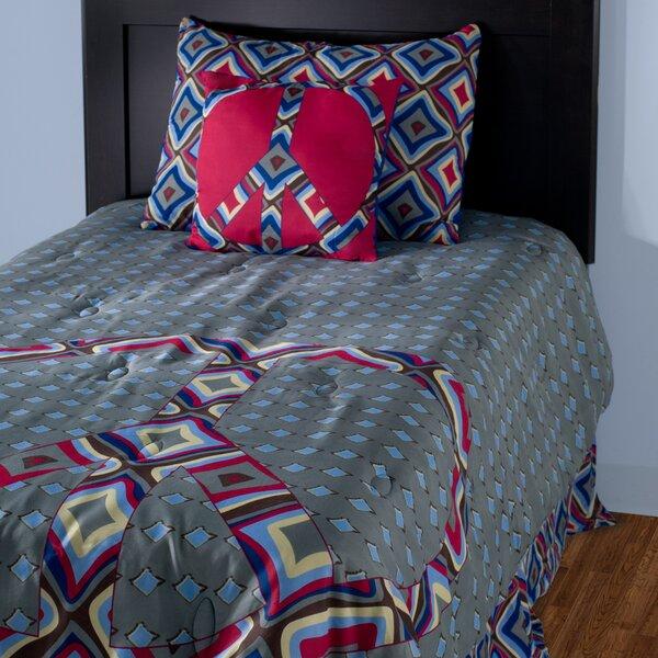 Kids Peace 3 Piece Reversible Comforter Set by Wildon Home ®