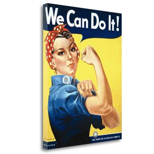 'Rosie the Riveter' Vintage Advertisement on Wrapped Canvas by Tangletown Fine Art