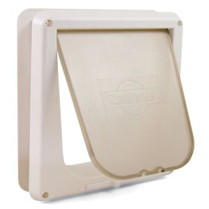 White Deluxe Four-Way Cat Flap