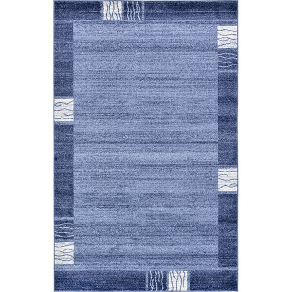 Dungan Light Blue Area Rug by Mercury Row