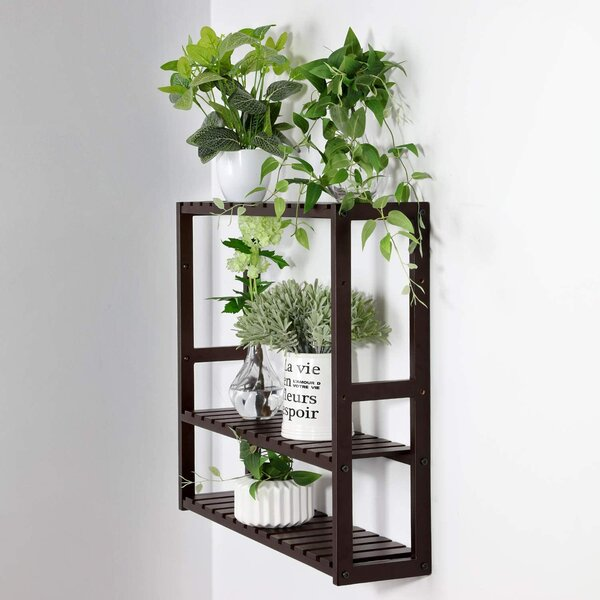 Teton 23.6 W x 21.3 H x 5.9 D Solid Wood Free-Standing Bathroom Shelves