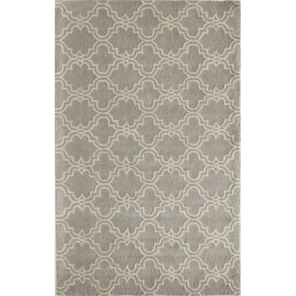 Aubin Geometric Hand-Tufted Wool Gray Area Rug by Darby Home Co
