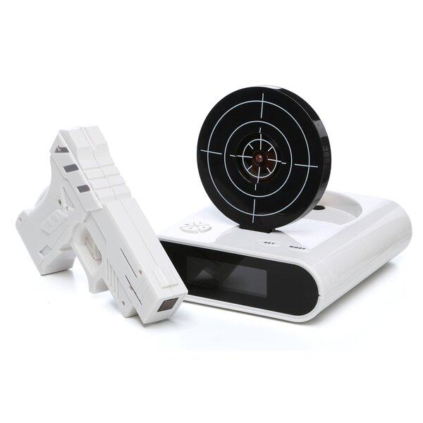 Gun & Target Recordable Alarm Clock Set by Tradema