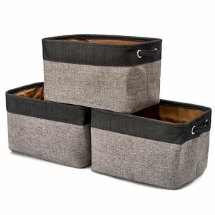 Find the perfect Twill Storage Fabric Cube or Bin (Set of 3) By Latitude Run