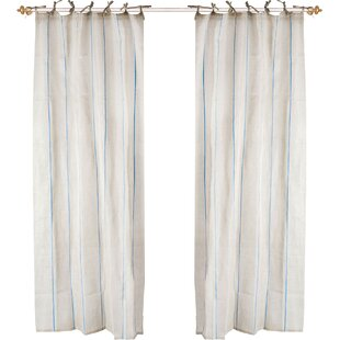 Maisy Tie Top Curtain Panel In Light Blue