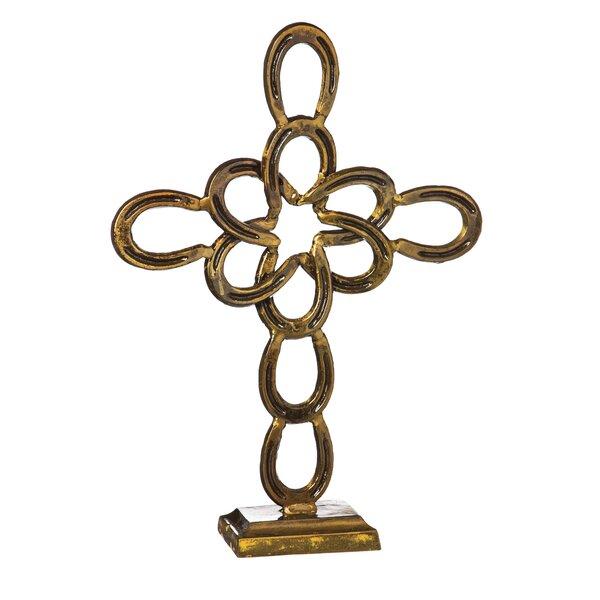 Cast Metal Horseshoe Cross by Evergreen Enterprises, Inc