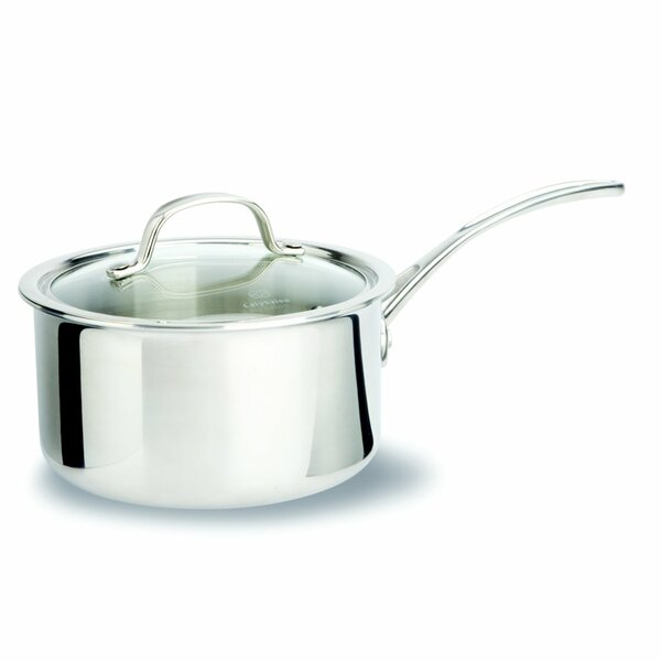 Tri-Ply Stainless Steel Saucepan with Lid by Calphalon