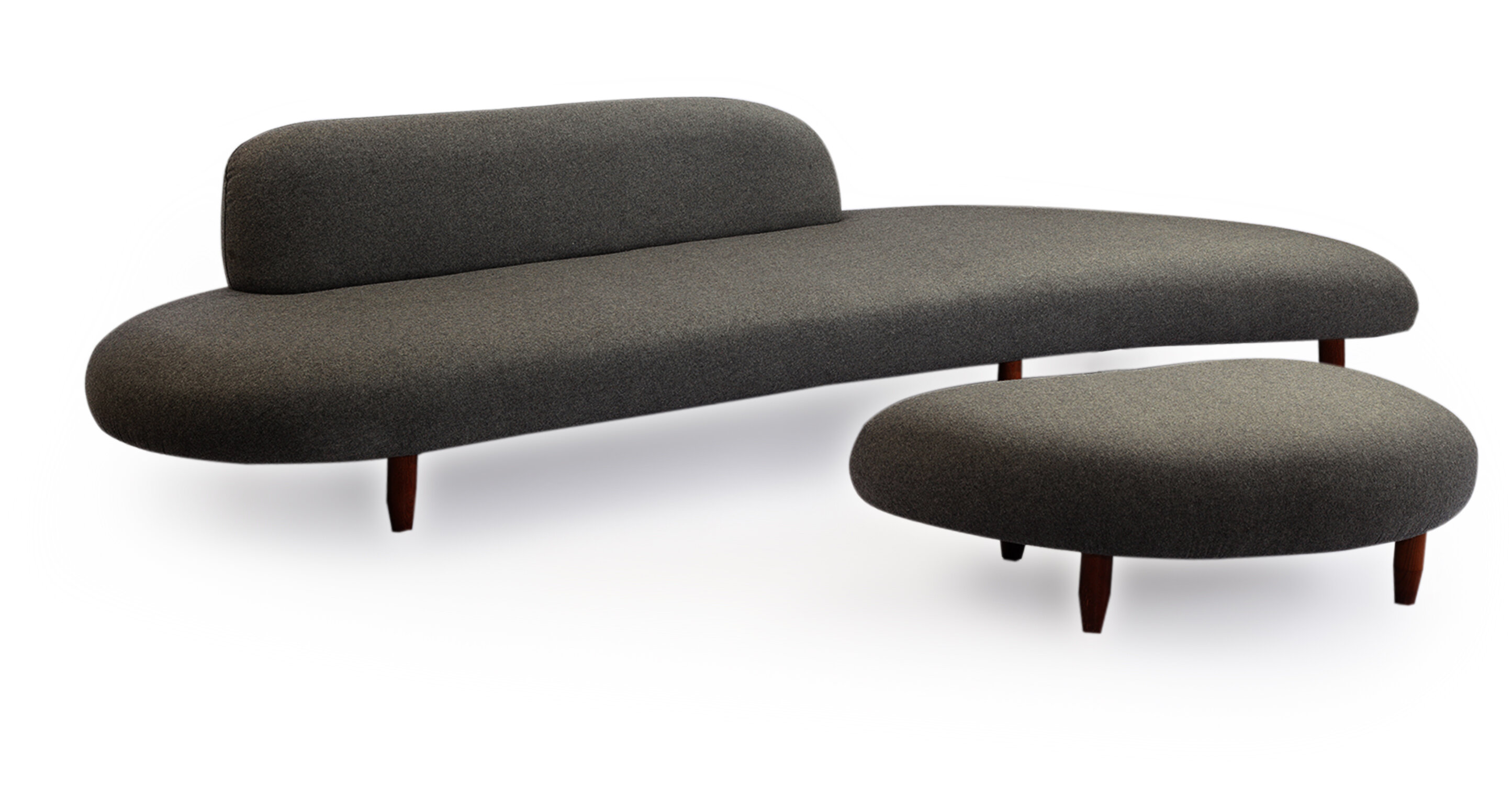 Brayden Studio Potvin Mid Century Modern Sofa And Ottoman Set Reviews Wayfair
