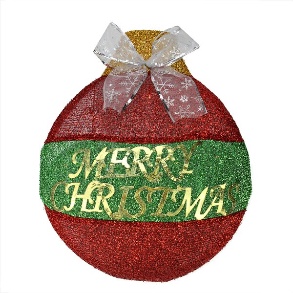 LED Lighted Merry Christmas Ornament Hanging Wall Decoration by Northlight Seasonal