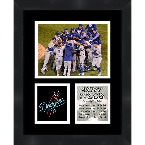 LA Dodgers 2017 MLB National League Champions Framed Photographic Print by Frames By Mail