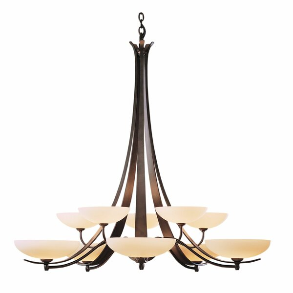 Aegis 10 - Light Shaded Classic / Traditional Chandelier By Hubbardton Forge