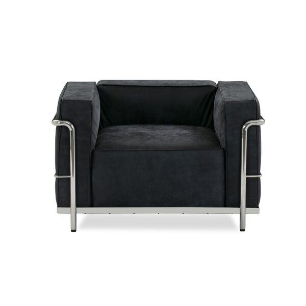 Unsel Leather Armchair By Ebern Designs