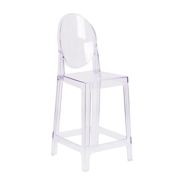 Piper Counter 25 Patio Bar Stool with Oval Back by Orren Ellis