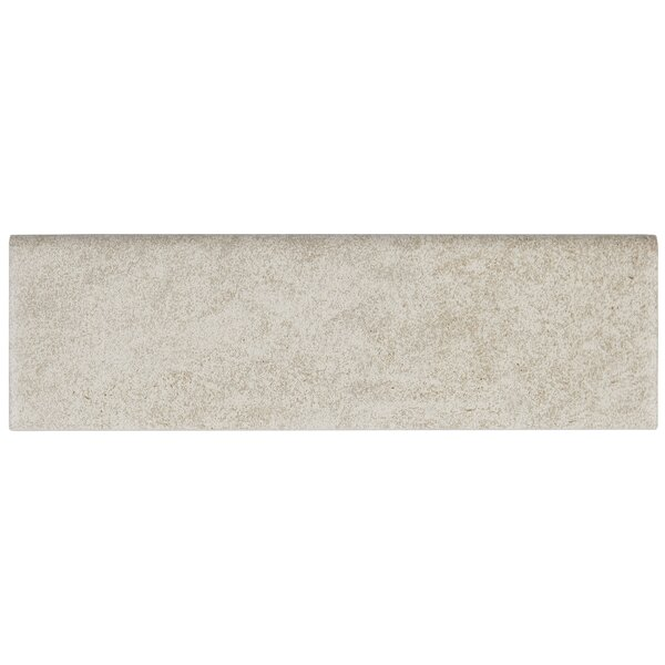Avondale 10 x 3 Ceramic Bullnose Tile Trim in Chat
