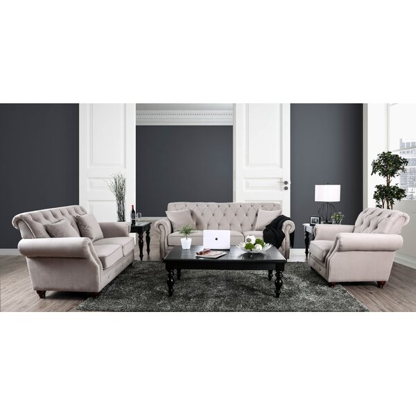 Warkworth Modern 3 Piece Living Room Set by Canora Grey