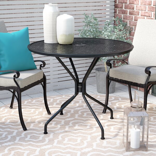 Albreda Round Indoor-Outdoor Dining Table by Winston Porter