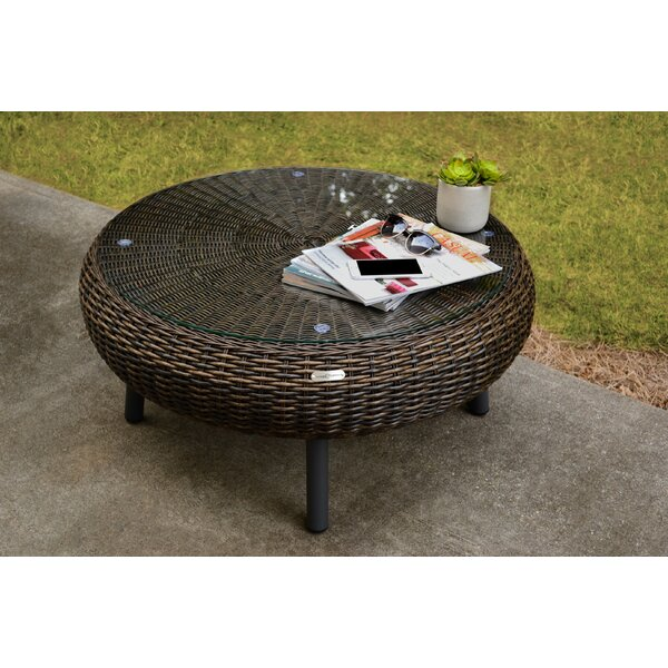 Anika Wicker/Rattan Coffee Table by Bay Isle Home