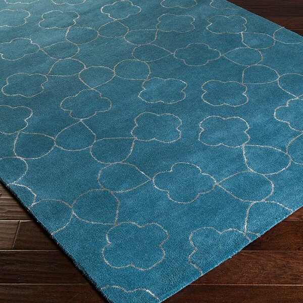 Jensen Hand-Tufted Marine Blue Area Rug by Rosdorf Park
