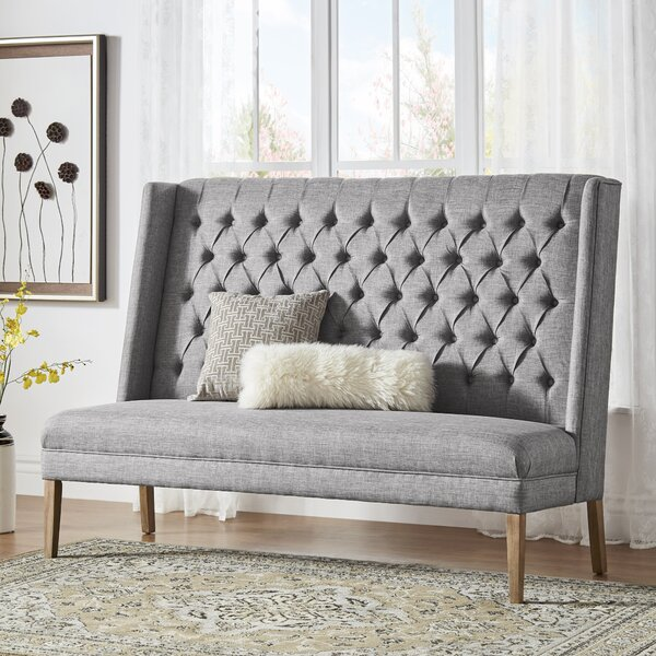 Kaitlin Solid Linen Tufted Upholstered Bedroom Bench by Birch Lane™ Heritage