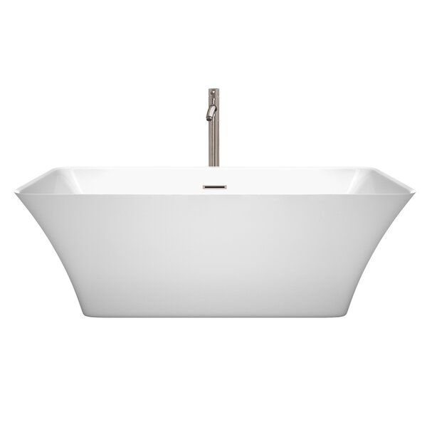 Tiffany 67 x 29.5 Freestanding Soaking Bathtub by Wyndham Collection