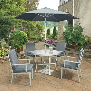 Dinan 5 Piece Dining Set With Cushion and With Umbrella By Red Barrel Studio