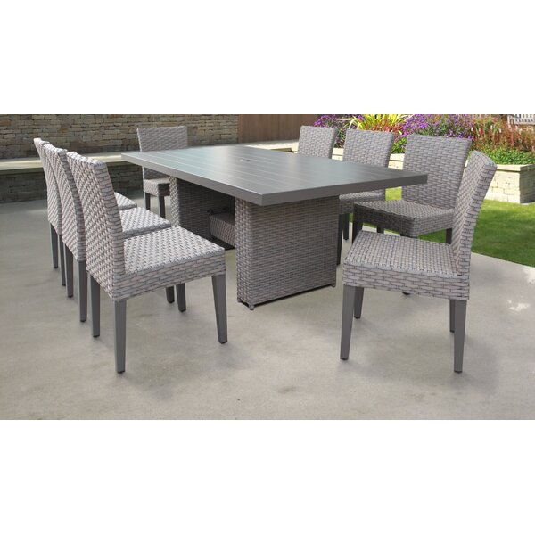 Florence 9 Piece Outdoor Patio Dining Set by TK Classics