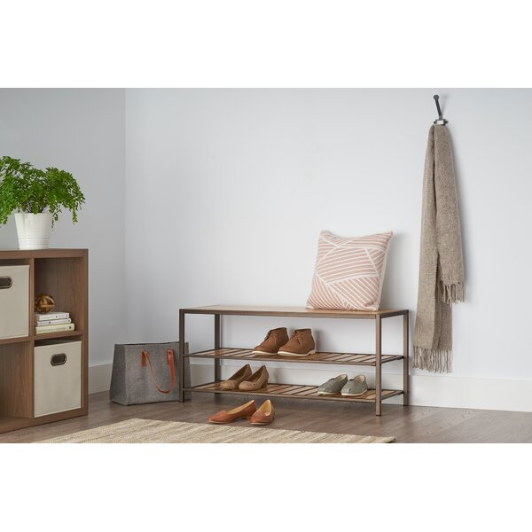 Bamboo Shoe Storage Bench by Union Rustic