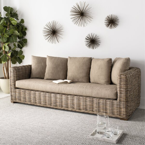 Weekend Promotions Vara Wicker Sofa by Bay Isle Home by Bay Isle Home