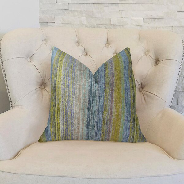 Spoft Strie Cornflower Handmade Throw Pillow by Plutus Brands