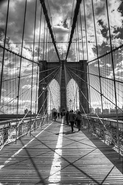 Brooklyn Bridge II (New York City) by Christopher Bliss Photographic Print on Canvas by iCanvas