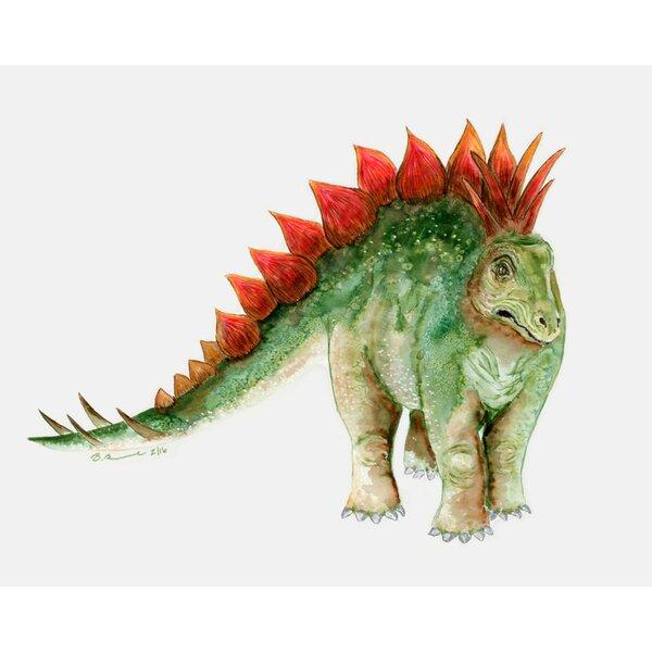 Dinosaur Portrait - Stegosaurus by Brett Blumenthal Canvas Art by Oopsy Daisy